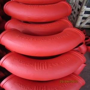 High Quality Most Popular Putzmeister Schwing Cifa Casting Concrete Pump Boom Pipe Elbow DN125 90D 45D 30D 20D 15D with 148MM SK Flange